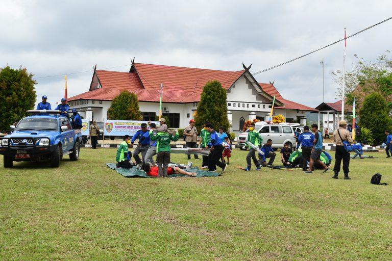 Pengukuhan Kampung Siaga Bencana (KSB) HAPAKAT di Kecamatan Tewah