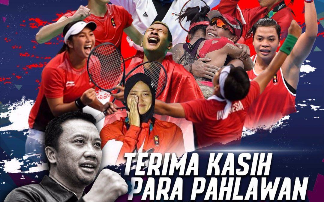 Prestasi Indonesia di Urutan ke- 4 Asian Games 2018, Menpora: Torehan Terbaik Yang Akan Menjadi Catatan Sejarah Yang Abadi