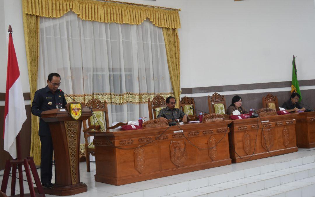Rapat Paripurna Jawaban Pemerintah Atas Pandangan Umum Fraksi-Fraksi DPRD Kabupaten Gunung Mas