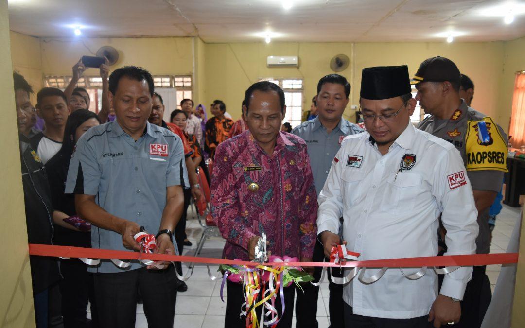KPU Gunung Mas resmikan Rumah Pintar Pemilu 2019
